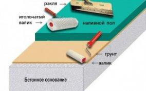 Наливной пол: как уменьшить